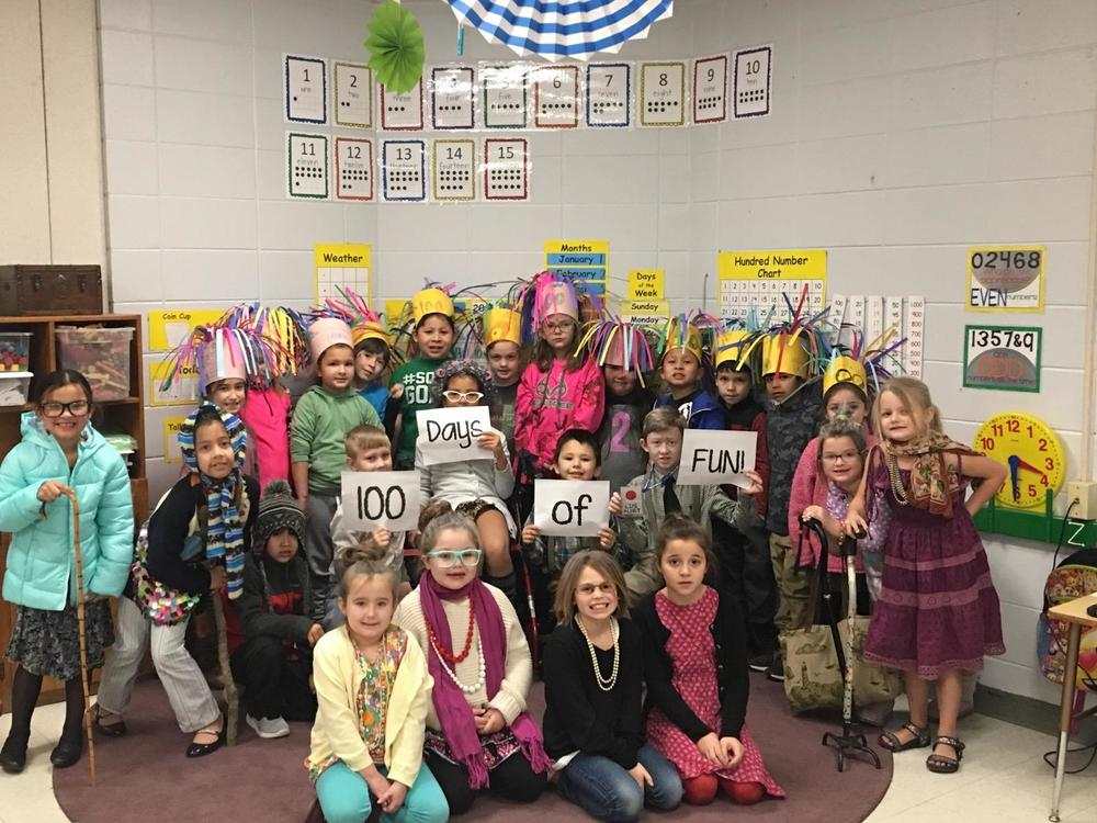 1st Grade Celebrates 100th Day of School