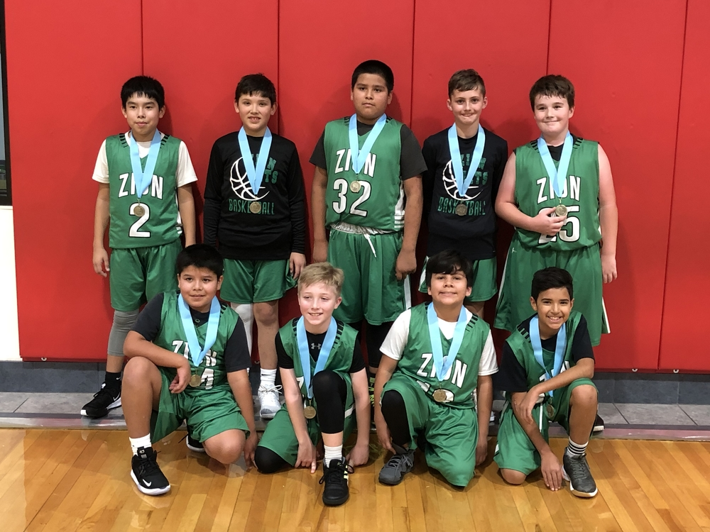 Champions of the Maryetta 5th grade tournament!