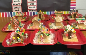 Mrs. Hale's 1st Grade Makes Gingerbread Houses