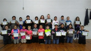 1st Nine Weeks Kiwanis SuperBugs Recipients