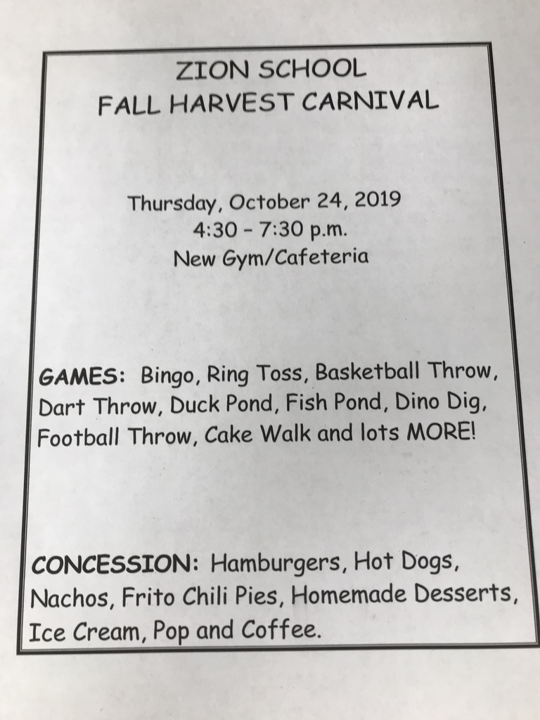 Zion Fall Harvest Carnival