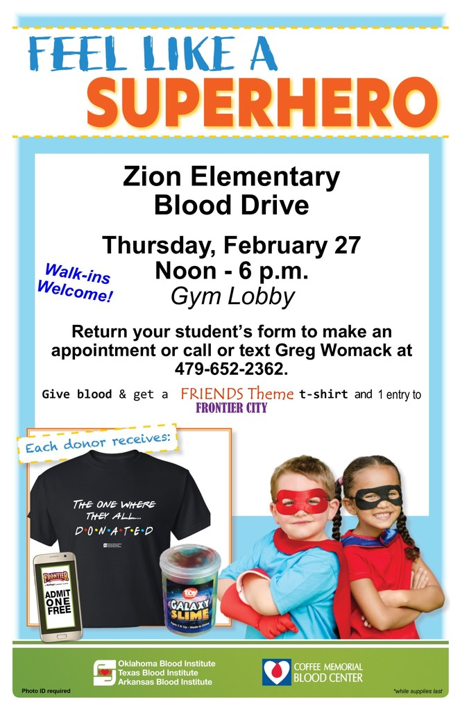 Zion School Blood Drive
